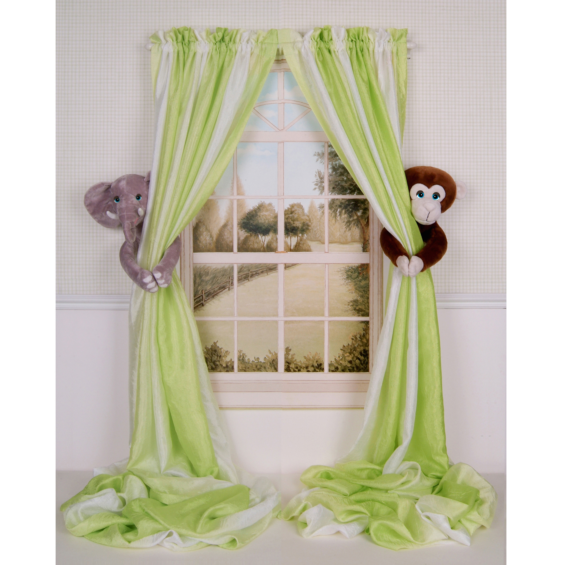 curtain critters baby nursery jungle elephant monkey